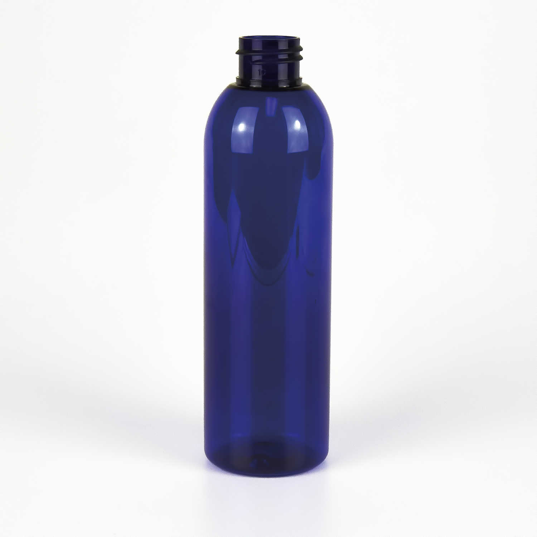 Blue Plastic Bottle 200ml Tall Purple Flame