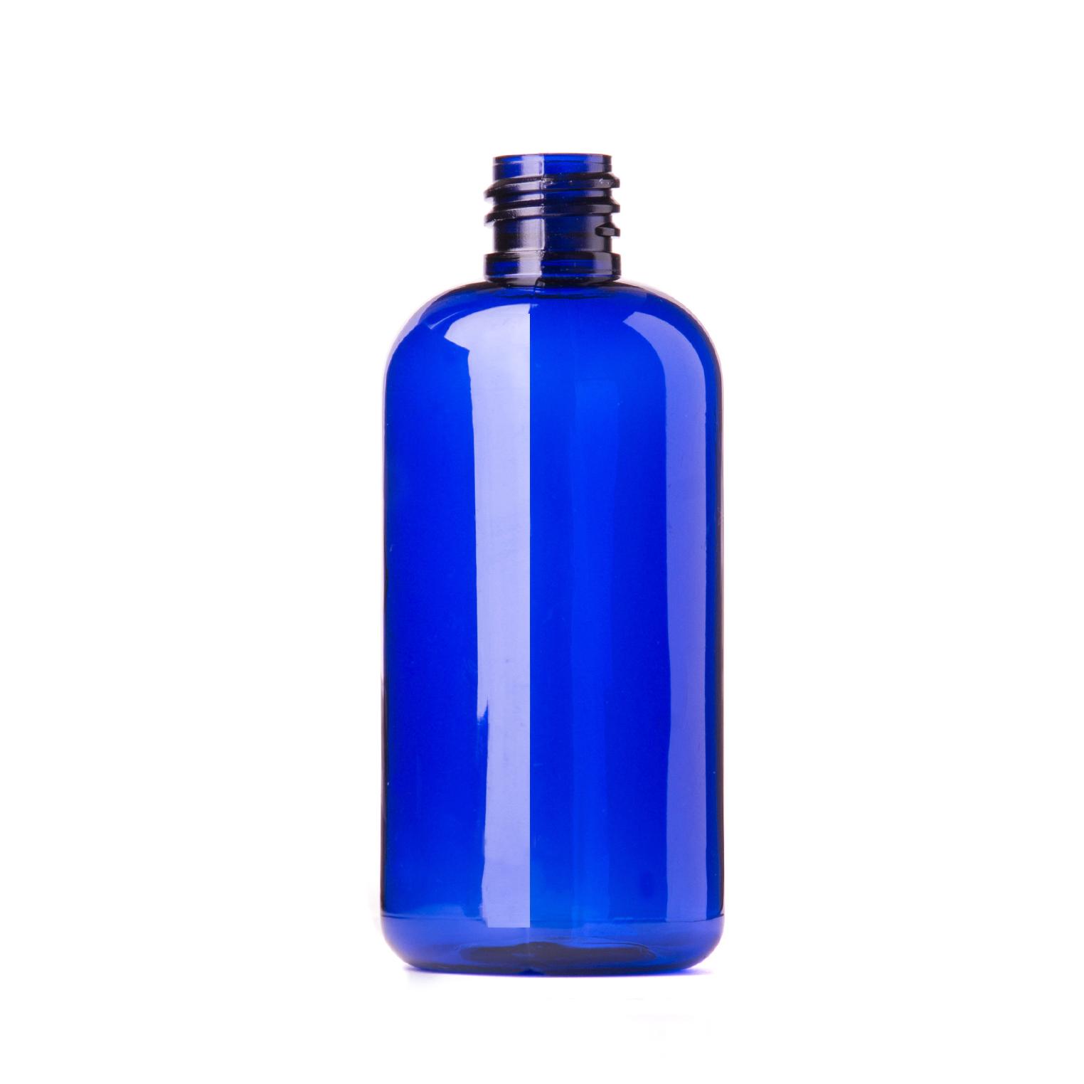 Blue Plastic Bottle 100ml Purple Flame