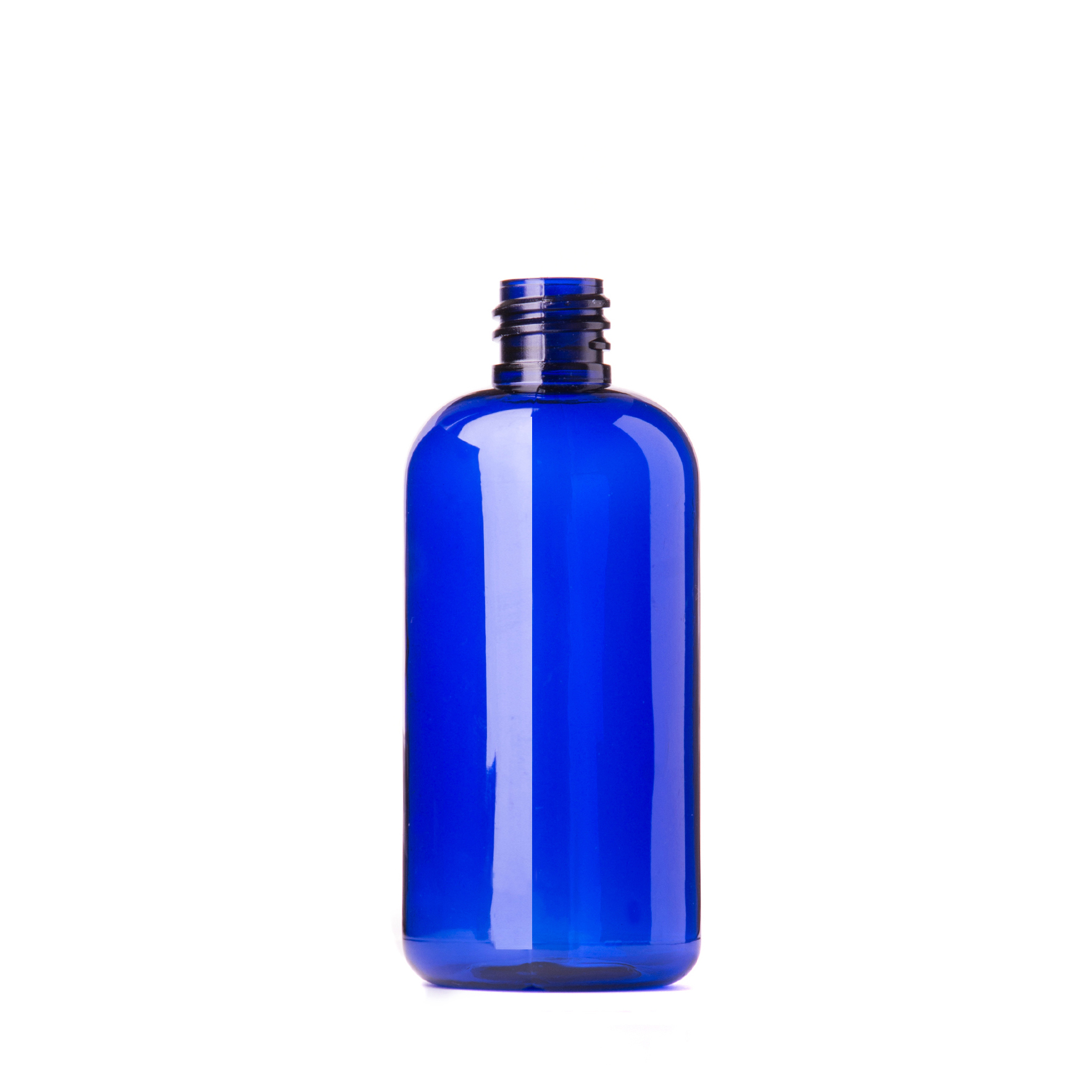 Blue Plastic Bottle 50ml Purple Flame