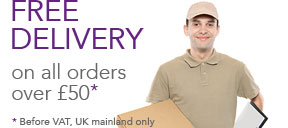 Free delivery on all orders over £50 (UK mainland only)