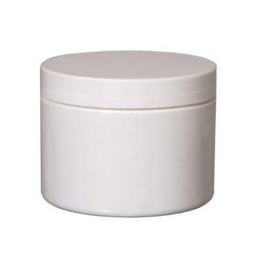 White Plastic Cosmetic Jar 100ml Purple Flame