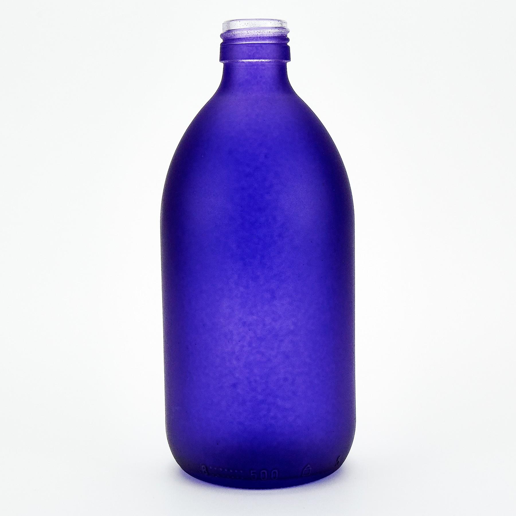 Purple Glass Bottle 500ml Purple Flame