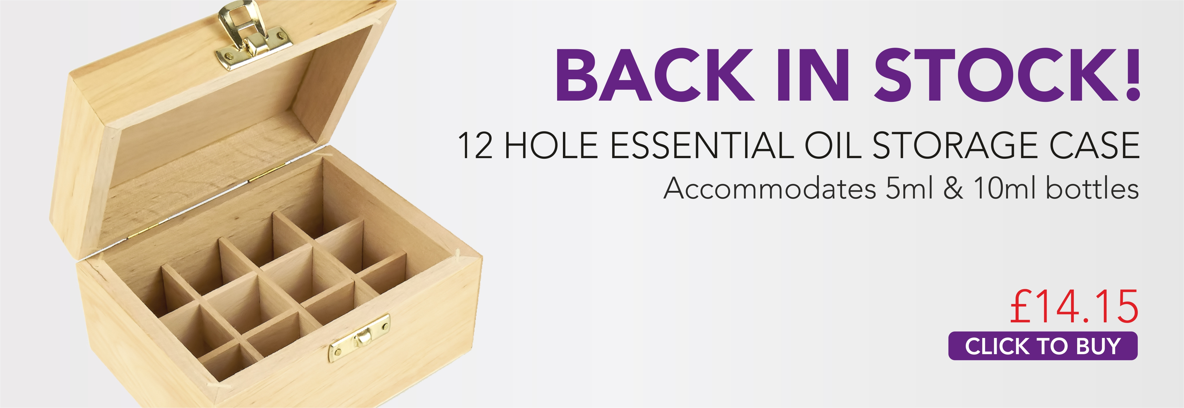 12 Hole Wooden Storage Box