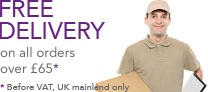 Free delivery on all orders over £65 (UK mainland only)